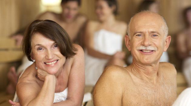 couple at sauna