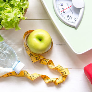apple and weight scale