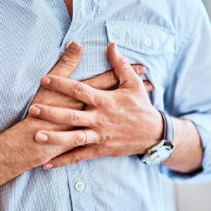 senior with heartburn
