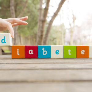 diabetes spelled out in blocks