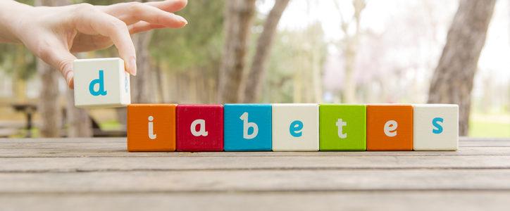 diabetes spelled out in blocks